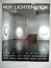 Roy Lichtenstein Art Gallery Exhibit PRINT AD - 1989