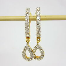 CLASSY THAI HUGGIE CZ EARRINGS 22K 18K Gold GP Women Jewelry GT5