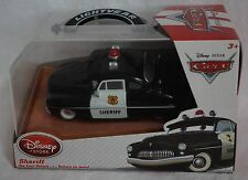 Disney Store Pixar Cars Sheriff 1:43 Scale Die Cast Car NEW Soft Plastic Case