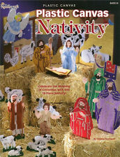 Plastic Canvas Christmas NATIVITY Plastic Canvas Pattern Paperback Book NEW