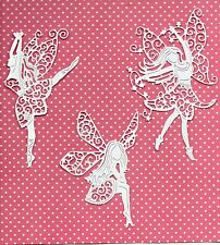 TATTERED LACE LARGE FAIRY DIE CUTS - TOPPER .CHRISTMAS -3 DESIGNS-Garden- MUM