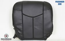 02 Chevy Avalanche -Passenger Side Bottom Replacement Leather Seat Cover Dk Gray