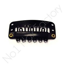 New x 30 High quality Hair Extension Snap Clips for Wig Weft 28mm / 2.8cm Black