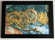 """VAN GOGH """"sunflowers"""" framed canvas print giclee 8,3X12 reproduction of painting"""