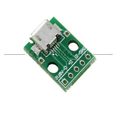 2pcs Female MICRO USB to DIP 5-Pin Pinboard 2.54mm micro USB type GM