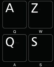 FRENCH AZERTY KEYBOARD STICKER NON TRANSPARENT BLACK