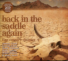 BACK IN THE SADDLE AGAIN FINE COUNTRY CLASSICS, 2 CD BOX SET, JOHNNY CASH & MORE