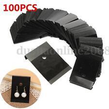 100x Bijou Boucle d'oreille Presentoir Affichage Support Carte Flocage Plastique