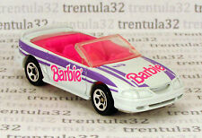 Set Exclusive BARBIE '96 FORD MUSTANG GT CONVERTIBLE white pink Hot Wheels Loose
