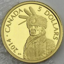 Canada 2014 $5 Portrait of Nanaboozhoo 1/10 oz. 99.99% Pure Gold Proof Coin