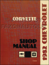 1982 Corvette Shop Manual 82 Chevrolet Chevy Repair Service Book