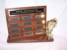 BIG BASS/FISHING TOURNEY STAND UP PERPETUAL PLAQUE TROPHY AWARD  FREE ENGRAVING!