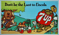 "1971, 33""x20"" 7Up ""Don't Be The Last To UnCola"" vintage soda poster, Pat Dypold"