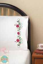 Embroidery Kit ~ Design Works Rose Vine Floral PILLOWCASE PAIR #T232153