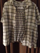 Fashion Bug 18/20Women's Olive Green And Yellow Plaid Blouse And Tank Top
