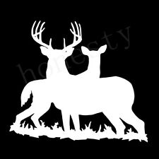 Deer family Hunting white car window Wall Auto Door vinyl sticker decal
