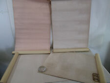 4 Vintage Partial Rolls of Pale Pink Patterned Wall Paper- All Different