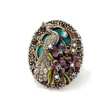 NEW SWEET ROMANCE OLLIPOP PEACOCK FLOURISH ADJUSTABLE RING ~~BIG & BOLD~~