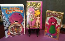 Lot of 3 Barney VHS Songs from the Park, Sing and Dance w/Barney, Plus 1 More