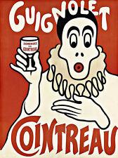 Art ad demandez un Cointreau beber bebidas Deco cartel impresión