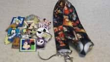 Disney Trading Pins_Starter Set_ 10 PIN LOT_ KINGDOM HEARTS Lanyard  BLACK