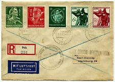 Germany 1945, cover from Pola to Hamburg, last days of WWII