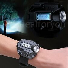 Rechargeable Wrist Watch LED Flashlight Waterproof Outdoor Torch Flashlight NEW