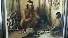 Early Native American The Craftman oil/print on canvas art/ Robert Wesley Amick