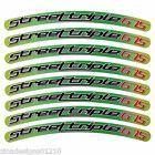 Street triple 675 lime green gradient colour wheel rim graphics stickers decals