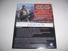 Far Cry 4 PS4 DLC CODE ONLY - Hurk's Redemption & Harpoon Gun - No Game Included