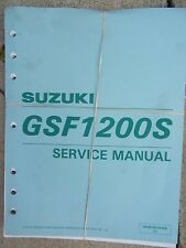 1996 -1999 Suzuki GSF1200S  Motorcycle Service Manual Inspection Overhaul  T