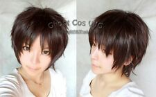 Attack on Titan Eren Jaeger Short Dark Brown Straight Cosplay Party Wig