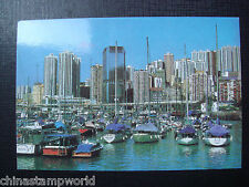 old HK postcard the typhoon shelter at causeway bay,unused