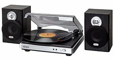 Turntable With Speakers USB Vinyl Record Player to MP3 3 Speed 33 45 78 RPM Jack