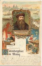 Mainz, Gutenberg, Gutenbergfeier, 1900