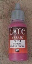 Vallejo Paint Game Color Warlord Purple 72014 Eye Dropper Bottle 17ml