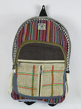 Nepal Himalayan handycraft Hemp Backpack Laptop Bag Rucksack ECO FRIENDLY