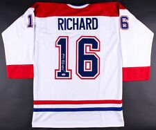 "Henri Richard Signed Montreal Canadiens Jersey Inscribed ""11 Cups"" (PSA COA)"