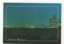 Detroit Renaissance Center & Ambassador Bridge USA Postcard 443a