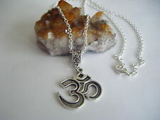 Spiritual Inspirational Wellness Necklace Large Om Pendant 3rd Eye Chakra Peace