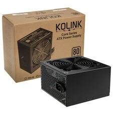 KOLINK CORE SERIES KL-C600 600w 40 AMP 80 PLUS 8 PIN ATX PSU POWER SUPPLY UNIT
