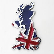 Map Of UK England Flag Emblem Badge Decal Sticker Fender Aluminium