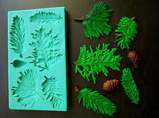 Silicone Mould / CHRISTMAS PINE BRANCH/ Sugarcraft Cake Decorating