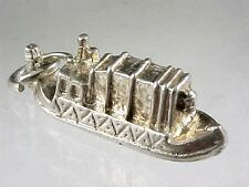 Vintage English1960 Sterling Silver CANAL NARROW BOAT BARGE Charm
