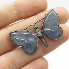 Antq 927 Silver Real Butterfly Wings Handmade Pin Brooch