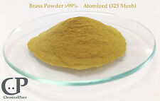 Brass Powder  99% Atomized (325 Mesh) 2 Vials of 25 grams each (50 grams total)