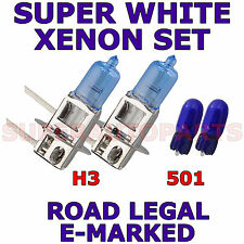 FITS ALFA ROMEO SPIDER 1996-ON     SET  H3   501   XENON SUPER WHITE LIGHT BULBS
