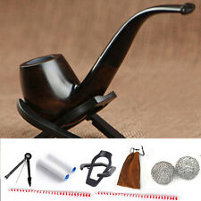 Durable Smoking Pipe Tobacco Cigarettes Cigar Pipes Filter Ebony Wooden