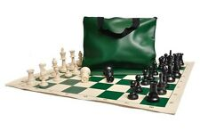 Standard Chess Set Combo - Triple Weighted Regulation Pieces | Vinyl Chess Board