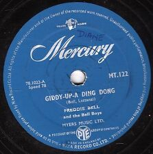 "1956 ROCKING CLASSIC FREDDIE BELL 78 "" GIDDY-UP-A-DING DONG "" MERCURY MT 122 VG"